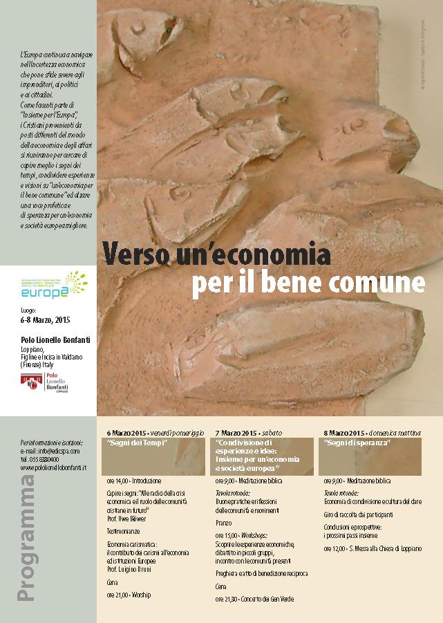 """""""Verso un'economia per il bene comune"""""""