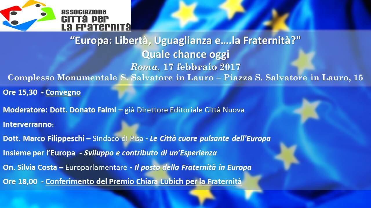 Europa – Libertà, Uguaglianza … e la Fraternità?